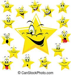 expresiones, estrellas, muchos