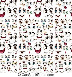 expresiones faciales sin costura