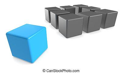 exterior, box., pensar