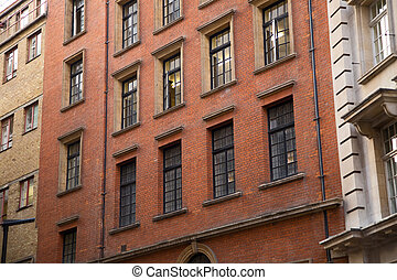 Exterior de apartamentos de Londres.