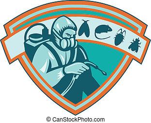 exterminador, control, peste, protector, trabajador