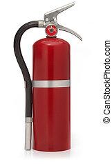 extintor, rojo blanco