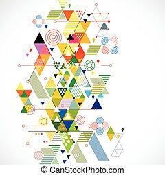 Extracto colorido y fondo geométrico creativo, ilustración vectorial