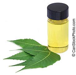 Extracto de neem medicinal con hojas
