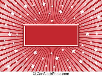Extracto fondo borroso rojo con estrellas blancas