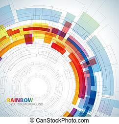Extracto fondo con colores arco iris