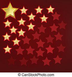Extracto fondo con estrellas doradas