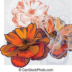 Extracto fondo con floración
