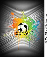 Extracto fondo con pelota de fútbol. Vector