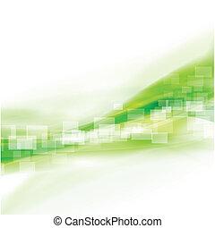 Extracto fondo verde suave, ilustración Vector