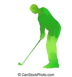 extracto verde, jugador del golf