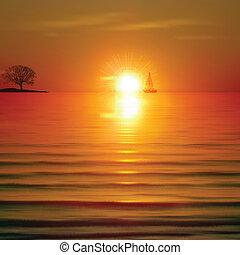 Extractos antecedentes con el amanecer y el árbol