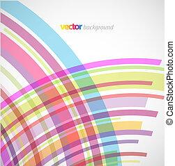 Extractos antecedentes con líneas coloridas.
