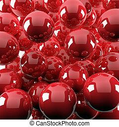 Extractos antecedentes de brillantes bolas rojas