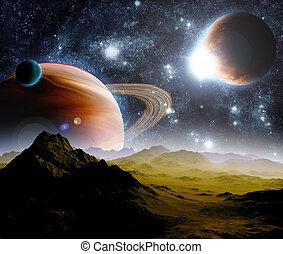 Extractos antecedentes del espacio profundo. En el futuro viaje. Nuevas tecnologías y recursos.