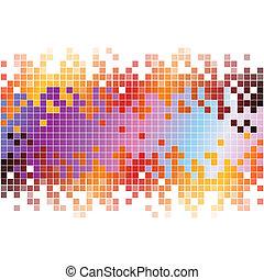 Extractos antecedentes digitales con pixeles coloridos