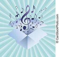 Extractos antecedentes musicales con notas musicales, EPS10