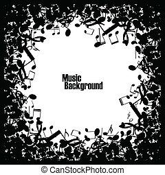Extrae el fondo musical con notas, vector