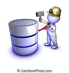 extraer, datos, concepto, carácter, base de datos