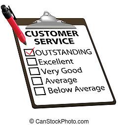 Extraordinario informe de evaluación de servicios de la clientela