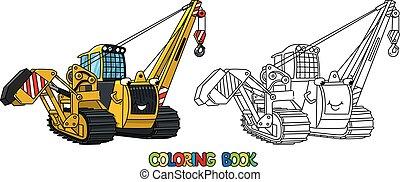 eyes., tubo, colorido, colocar, libro, vehicle., coche