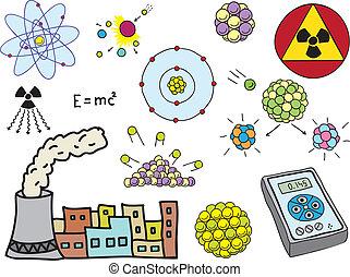 física, energía, -, atómico, nuclear