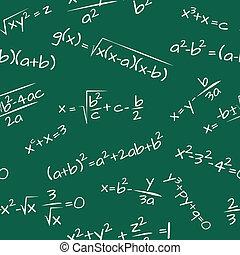 fórmula, seamless, matemáticas, patrón