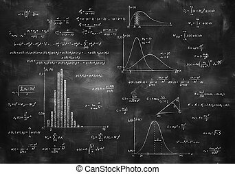 fórmulas, física, pizarra, matemáticas
