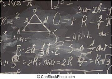 Fórmulas matemáticas en pizarra negra