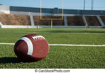 Fútbol americano en el campo