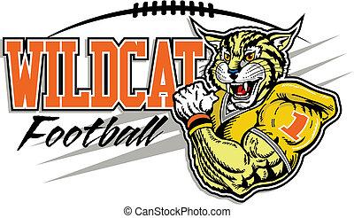 fútbol, diseño, wildcat