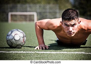 fútbol hispano o jugador de fútbol