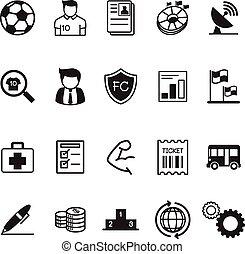 Fútbol / iconos de negocios del club de fútbol
