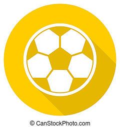 Fútbol plano de diseño amarillo icono web