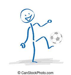 fútbol, stickman, juego