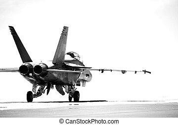 F18 de taxi Bw