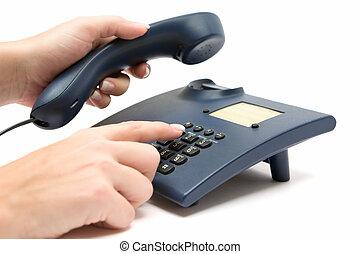 fabricación de llamada, teléfono