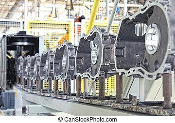 Fabricando piezas para el motor de auto