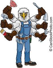 factótum, tenencia, herramientas, águila, multitáreas