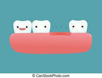 Falta un diente dental