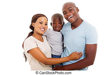Familia africana de tres
