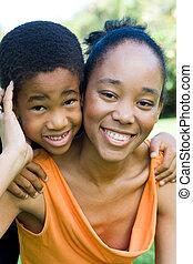 Familia afroamericana