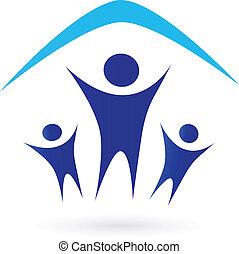 Familia bajo techo, icono