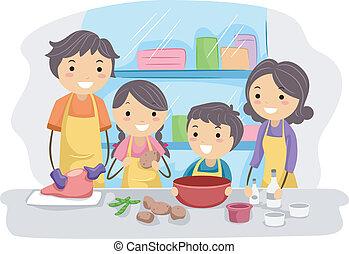familia , cocina