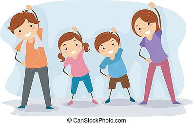familia , ejercicio