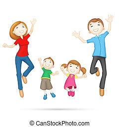 familia feliz, 3d