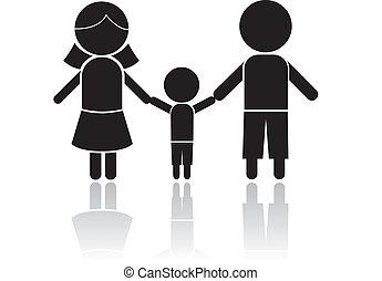 familia , figura palo