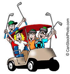 familia , golfing