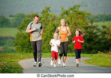 familia , jogging