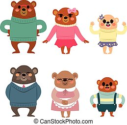 Familia oso feliz